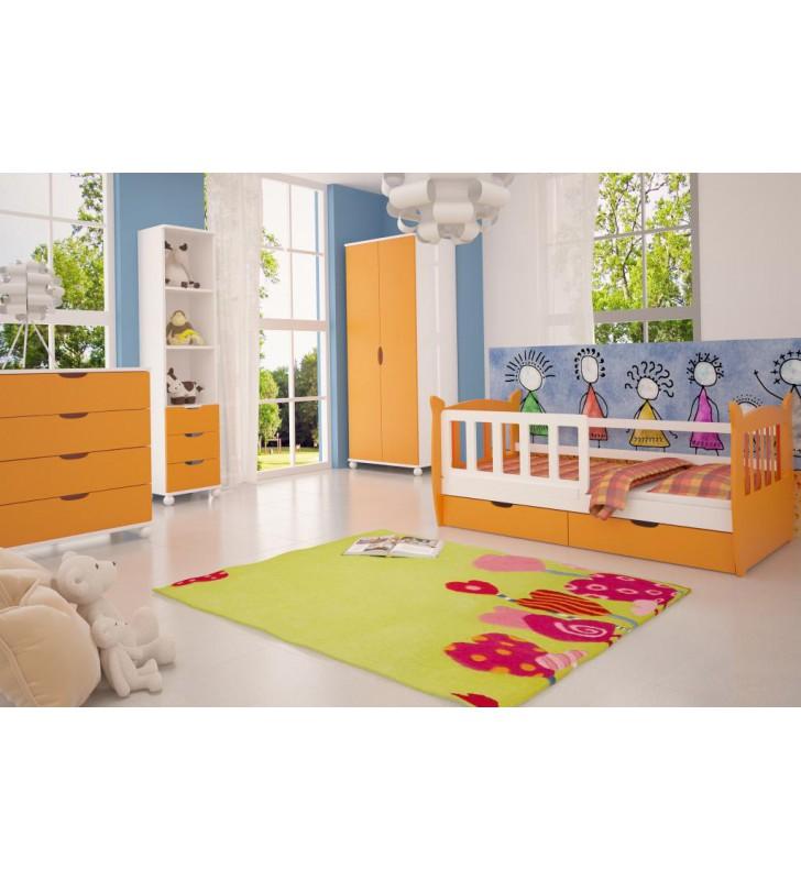 Zestaw pomarańczowych mebli do pokoju dziecięcego KMZs4p