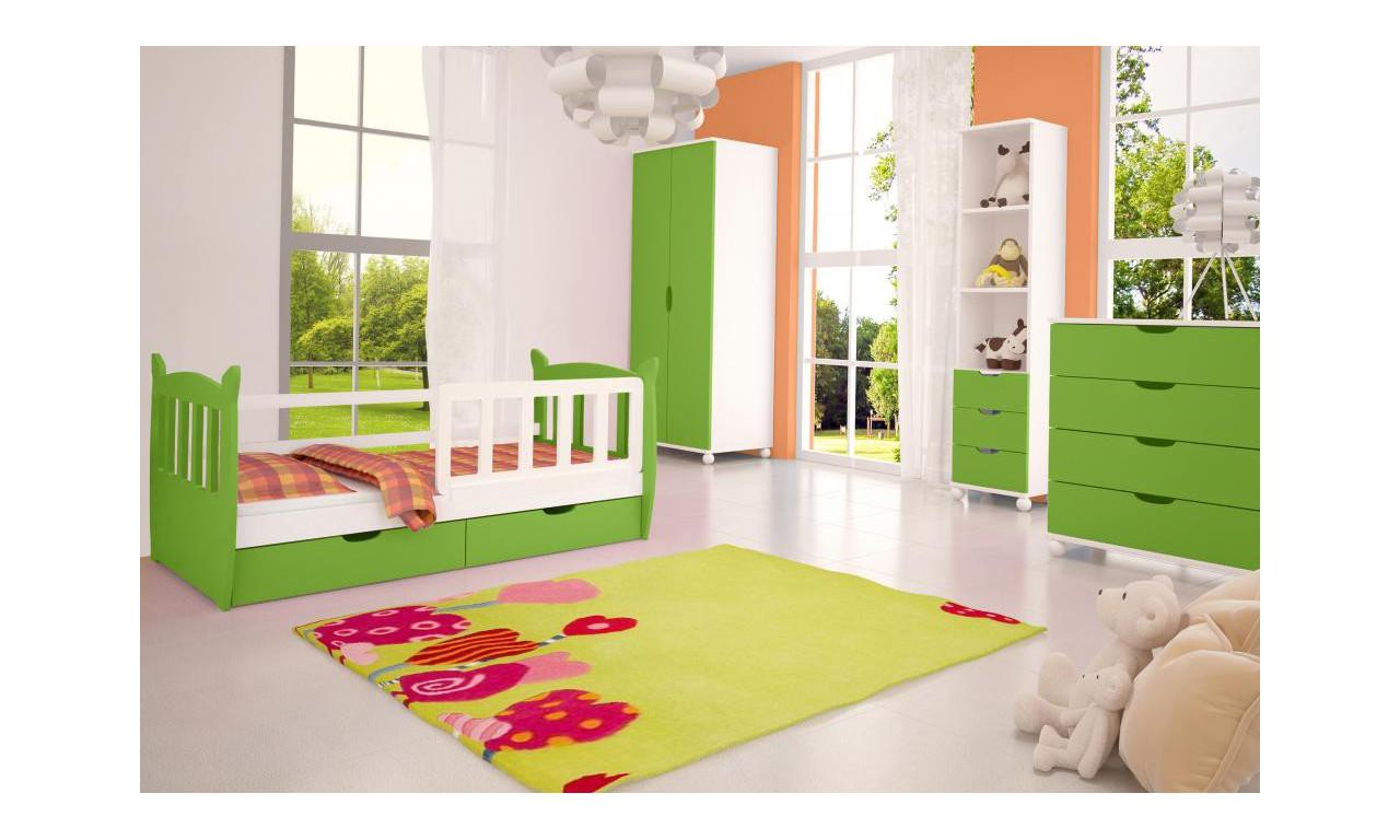 Zestaw zielonych mebli do pokoju dziecięcego KMZs4z
