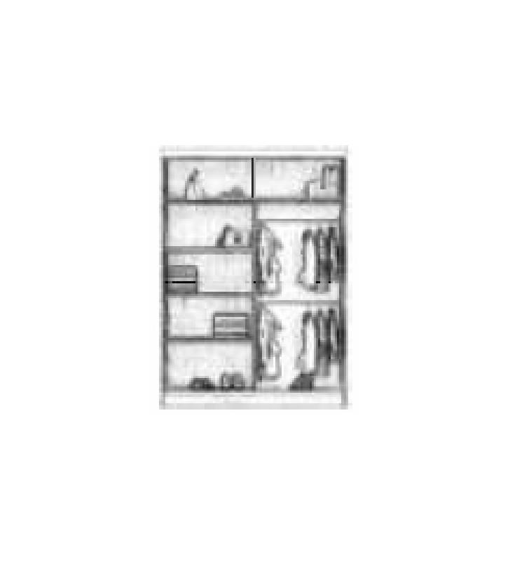 Szafa z lustrem w kilku odsłonach kolorystycznych Marika 150