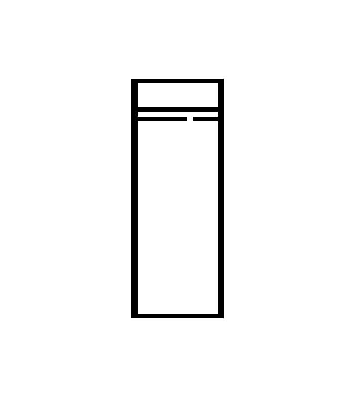 Wąska szafa w stylu prowansalskim Kora K-2