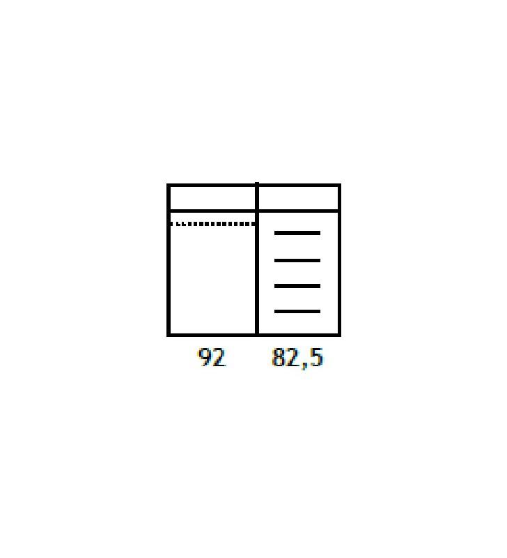 Szafa przesuwna z systemem sevroll, w stylu nowoczesnym Orlando O-23