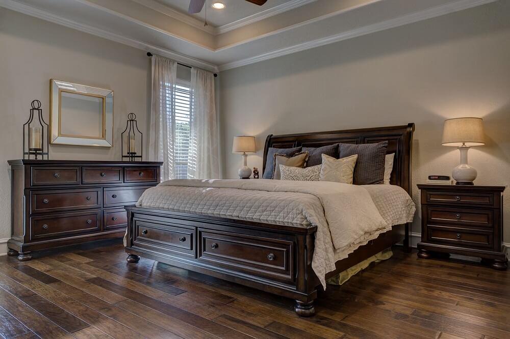 klasyczna sypialnia aranżacje