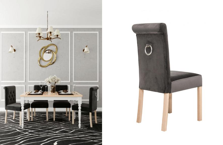 krzesła tapicerowane glamour